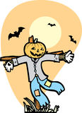 Scarecrow With Bats Royalty Free Stock Photos