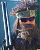 Scarecrow Bearded Hunting Man Royalty Free Stock Images
