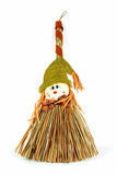 Scarecrow broom. Scarecrow straw broom, good for fall related themes Stock Images