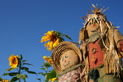 Scarecrow Buddies Royalty Free Stock Images