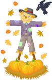 Scarecrow cartoon Stock Images