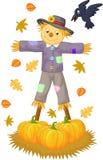 Scarecrow cartoon. Illustration of Scarecrow cartoon isolated on white Stock Images