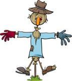 Scarecrow character cartoon Royalty Free Stock Photo
