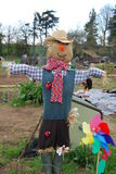 Scarecrow. Colorful and frightening scarecrow in Dorset vegetable patch Stock Images