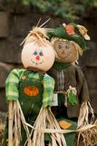 Scarecrow couple Royalty Free Stock Photography
