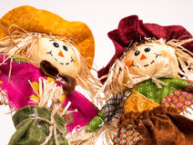Scarecrow Couple Royalty Free Stock Photo