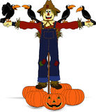 Scarecrow_crows.jpg Stock Image