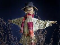 Scarecrow. On dark blue background Stock Image