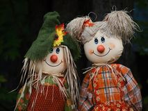 Scarecrow Dolls Royalty Free Stock Images