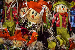 Scarecrow dolls on sale in Chester England Royalty Free Stock Photo