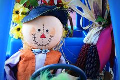 Free Scarecrow Driving Childs Car Royalty Free Stock Photography - 44671847