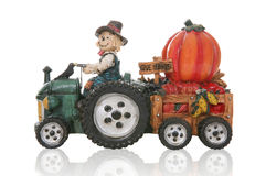 Scarecrow Driving Tractor Stock Image