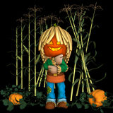 scarecrow för lykta o för 2 stålar stock illustrationer