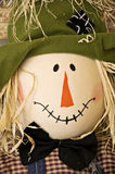Scarecrow Face. A close-up of a smiling fall scarecrow face Royalty Free Stock Photos