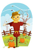 Scarecrow for Fall harvest. A vector illustration of a scarecrow during Fall harvest Royalty Free Stock Images
