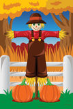 Scarecrow in the Fall season Stock Photo