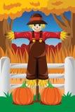 Scarecrow in the Fall season. A vector illustration of Scarecrow in the Fall season Stock Photo