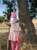 Scarecrow on farm fence Royalty Free Stock Photography