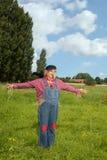Scarecrow farmer Stock Image
