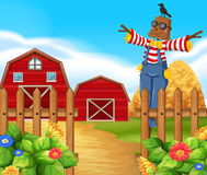 Scarecrow in the farmyard Royalty Free Stock Images