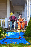 Scarecrow festival, Mahone Bay, Canada Royalty Free Stock Image