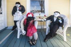 Scarecrow festival, Mahone Bay, Canada Stock Photo