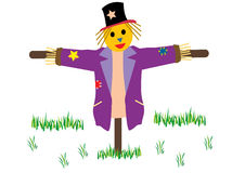 Scarecrow in the field Royalty Free Stock Image