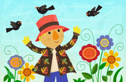 Scarecrow and Friends Royalty Free Stock Images