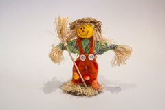 Scarecrow. A funny scarecrow colored yellow and orange Stock Image