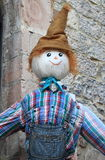 Scarecrow. A funny and smiling scarecrow stock photo