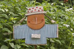 Scarecrow in garden Stock Images