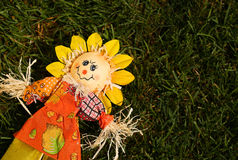 Scarecrow in Garden. Royalty Free Stock Images