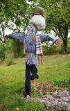 Scarecrow at the garden Royalty Free Stock Photos