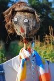Scarecrow guarding cornfield Stock Images