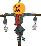 Scarecrow halloween pumpkin cartoon Royalty Free Stock Photo