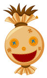 Scarecrow head with big smile Royalty Free Stock Photography