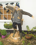 Scarecrow at Hinderwell Festival. Authentic scarecrow included in the competition for best entry at Hinderwell Festival held on 23rd July 2017, in North stock photography