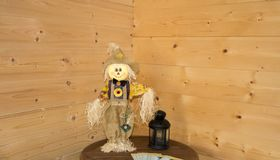 Scarecrow at home royalty free stock images