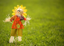 Scarecrow i trädgård Arkivfoton