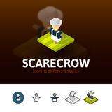Scarecrow icon in different style Royalty Free Stock Image