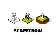 Scarecrow icon in different style Stock Photography