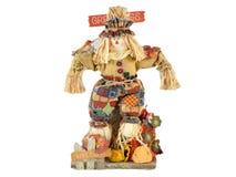 Scarecrow Isolated on White. Decorative scarecrow isolated on white Stock Image