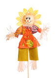 Scarecrow isolated on white. Background Stock Photography
