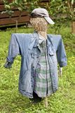 Scarecrow with jeans Royalty Free Stock Photography