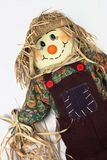Scarecrow Leaning Right. A scarecrow against a white background stock photo