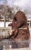 Scarecrow made from brushwood in a park at Carnival Royalty Free Stock Photography