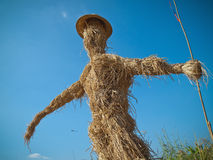 Scarecrow made of straw Stock Photo