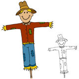 Scarecrow Man royalty free illustration