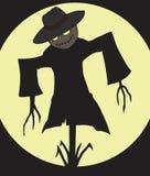 Scarecrow at Midnight vector illustration