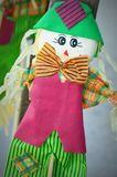 Scarecrow with Orange Striped Bowtie Royalty Free Stock Photography